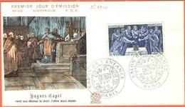 FRANCIA - France - 1967 - Hugues Capet - Paris - FDC - 1960-1969
