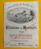 9959 - Château Les Rochers 1973 Saint-Estèphe - Bordeaux