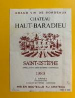 9962 - Château Haut-Baradieu 1983  Saint-Estèphe - Bordeaux