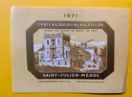 9969 - Château Ducru Beaucaillou 1971 Saint-Estèphe - Bordeaux