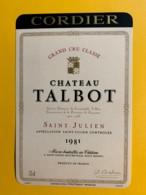 9970 - Château Talbot 1981 Saint-Julien - Bordeaux