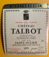 9971 - Château Talbot 1975 Saint-Julien - Bordeaux
