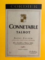 9975 - Connetable Talbot 1981 Saint-Julien - Bordeaux