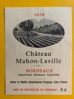 9995 - Château Mahon-Laville 1979 - Bordeaux
