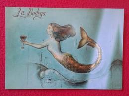 SPAIN POSTAL POST CARD CARTE POSTALE PUBLICITARIA PUBLICIDAD ADVERTISING ISLAS BALEARES IBIZA LA BODEGA IMAGEN DE SIRENA - Publicidad