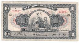 Peru 10 Soles De Oro 17/02/1955 - Perù