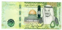 Saudi Arabia 50 Riyals 2016 UNC S/N A0 - Arabie Saoudite