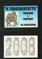 Calendarietto Pubblicitario 2008 - Il Traslocatutto - Calendari