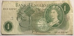 Bank Of England  - One Pound - 1952-… : Elizabeth II