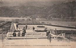 Carte Postale Ancienne De Savoie - Aiguebelette - L'etablissement De Pisciculture Au Bord Du Lac - France