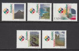 2001 Ecuador  Landscapes Tourism Complete Set Of 5 MNH - Ecuador