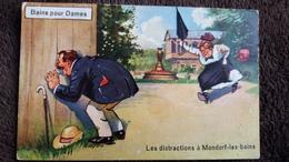 CPA LES DISTRACTIONS A MONDORF LES BAINS 57 BAINS POUR DAMES PAR LE PETIT TROU  HUMOUR - Frankreich