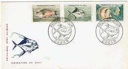 ENVELOPPE 1er Jour - MALI -  Tampons DAKAR - 1960 - Mali (1959-...)