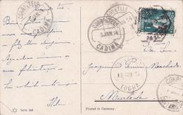 Portugal -Marcofilia Postal Circulado Com Vários Carimbos - Otros