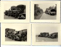Un Lot De 4 Photos - MILITAIRES Alentours De DINAN - JEEP - CAMION (noms Au Dos) - Other Municipalities