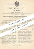 Original Patent - C. H. F. Müller , Hamburg , 1906 , Regulieren Der Luftdichte In Vakuum- Insbesondere Röntgenröhren !!! - Historische Dokumente