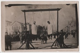 SYRIA Carte Photo Militaria Pendaison Exécution Traitres Druses 1926 - Syrien