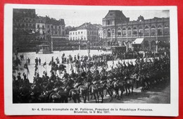 Cpa BRUXELLES Fallieres President De La Republique Francaise Le 9 Mai 1911 - Personnages Célèbres