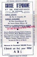 31- TOULOUSE- BUVARD CAISSE D' EPARGNE -PETIT FRANCAIS HABITUE TOI A EPARGNER- 42 RUE LANGUEDOC- 19 PLACE ARNAUD BERNARD - Bank & Insurance