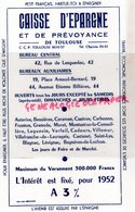 31- TOULOUSE- BUVARD CAISSE D' EPARGNE -PETIT FRANCAIS HABITUE TOI A EPARGNER- 42 RUE LANGUEDOC- 19 PLACE ARNAUD BERNARD - Banco & Caja De Ahorros