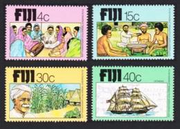 Fiji Arrival Of Indians 4v MNH SG#568-571 SC#401-404 - Fiji (1970-...)