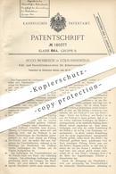 Original Patent - Hugo Mosblech , Köln Ehrenfeld 1905 , Hebelverschlussflasche | Flasche Mit Hebelverschluss | Flaschen - Historische Dokumente