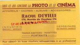 69- LYON- BUVARD RAOUL DEVILLE - PHOTOGRAPHE -PHOTOGRAPHIE -PHOTO CINEMA- 176 MONTEE DE CHOULANS - Cinéma & Theatre