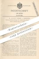 Original Patent - Dr. August Voelker , Köln / Ehrenfeld , 1900 , Kohlenstabanordnung Für Elektrische Bogenlampen | Lampe - Historische Dokumente