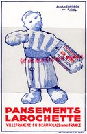 69- VILLEFRANCHE EN BEAUJOLAIS- BUVARD PANSEMENTS LAROCHETTE- ASEPTUS CORDEON PAR G. FAVRE-ACCORDEON - Chemist's