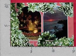 CARTOLINA VG ITALIA - Saluti Da VARAZZE (SV) - Vedutine Multivue - Notturno - 10 X 15 - ANN. 1975 - Saluti Da.../ Gruss Aus...