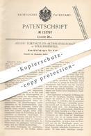 Original Patent - Helios Elektrizitäts- AG , Köln / Ehrenfeld , 1900 , Anschlusskappe F. Kohlen | Kohle , Koks , Graphit - Historische Dokumente