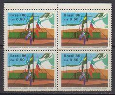 Brazil 1986 Antarctica 1v Bl Of 4 ** Mnh (41808D) - Brazilië