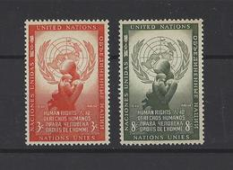 NATIONS UNIES New-York .  YT   N° 29/30  Neuf **  1954 - Ungebraucht