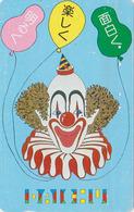 Télécarte Japon / 110-011 - CIRQUE - CLOWN & Ballon - CIRCUS Balloon JAPAN Phonecard - 88 - Games