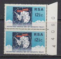 South Africa 1971 Antarctic Treaty 1v (pair, Sheet Number In Margin) ** Mnh (41808F) - Zuid-Afrika (1961-...)