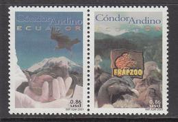 2001 Ecuador Condor Preservation Birds Oiseaux    Complete Set Of 1 Pair  MNH - Ecuador