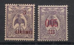 Nouvelle Calédonie - 1918-22 - N°Yv. 113 Et 126 - 2 Valeurs Cagou 15c Surchargées - Neuf Luxe ** / MNH / Postfrisch - New Caledonia