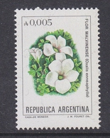 Argentina 1982 Flor Malvinas / Flowers Of The Falkland Islands 1v ** Mnh (41808F) - Ongebruikt
