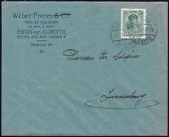 Lettre: Weber Frères Vins Et Liqueurs En Gros Et Détail, Esch-Alzette, 20.2.1924, Michel: 128 - Luxembourg