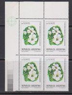 Argentina 1982 Flor Malvinas / Flowers Of The Falkland Islands 1v Bl Of 4 (corner) ** Mnh (41808G) - Ongebruikt