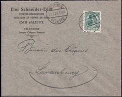 Lettre: Eloi Schneider-Eydt Peintre-Décorateur, Esch-Alzette, 20.2.1924, Michel: 128 - Luxembourg