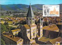 FRANCE CARTE MAXIMUM  NUM.YVERT 2657 ABBAYE DE CLUNY - Maximum Cards