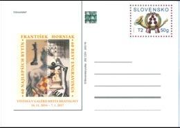 CDV 262 Slovakia Best Engravings Of Fr. Horniak - Ester Simerova-Martincekova, Chess Composition 2016 Horse - Schach