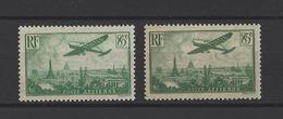 FRANCE .  YT  PA  N° 8/8a  Neuf **  1936 - Poste Aérienne