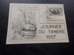 FRANCE (1957) Journée Du Timbre TOULON - Cartes-Maximum