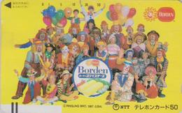 Télécarte Ancienne Japon / 110-011 - CIRQUE - CLOWN & Ballon - CIRCUS Balloon JAPAN Front Bar Phonecard - 90 - Games