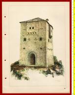 M3-37091 Albania 1956. Traditional Folk Art And Technique. Architecture. Genuine Lithograph Poster 35x26 Cm - Vecchi Documenti