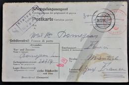 CP Prisonnier De Guerre STALAG 344 Camp Disciplinaire Lambinowice POLOGNE Vers Montréal GERS Déc 1944 - 2. Weltkrieg 1939-1945