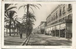 ALICANTE ESCRITA PASEO DE LOS MARTIRES - Alicante