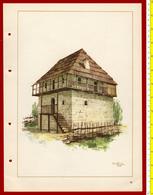 M3-37093 Albania 1956. Traditional Folk Art And Technique. Architecture. Genuine Lithograph Poster 35x26 Cm - Vecchi Documenti